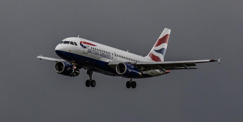 British Airways - Airbus A319-131 (G-EUOH) - Heathrow Airport (March 2019)