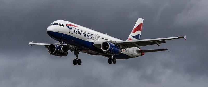 British Airways - Airbus A320-232 (G-EUYE) - Heathrow Airport (March 2019)