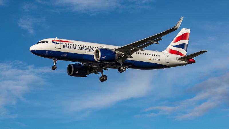 British Airways - Airbus A320-251N (G-TTND) - Heathrow Airport (October 2020)