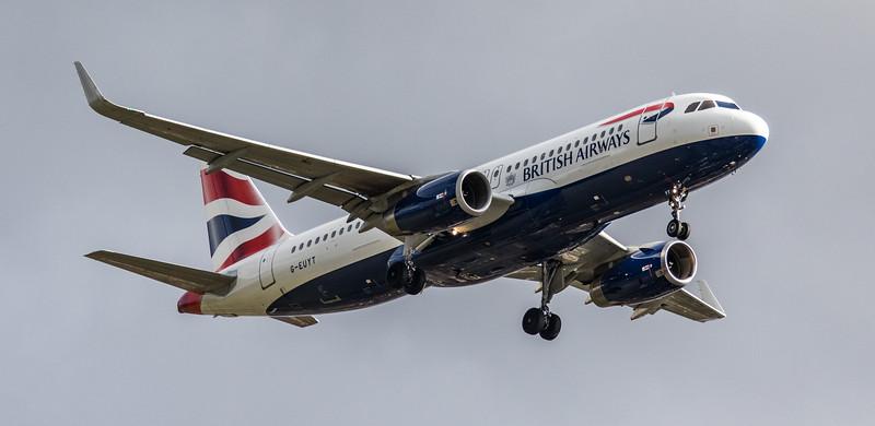 British Airways - Airbus A320-232 (G-EUYT) - Heathrow Airport (March 2019)