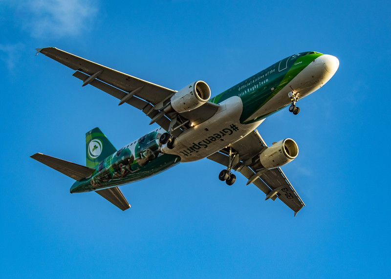 Aer Lingus (Irish Rugby Team Livery)  - Airbus A320-214 (EI-DEI) - Heathrow Airport (March 2020)