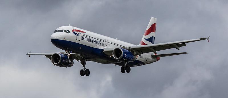 British Airways - Airbus A320-232 (G-EUYI) - Heathrow Airport (March 2019)