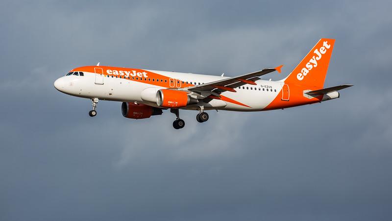 easyJet - Airbus A320-214 (G-EZUS) - Edinburgh Airport (February 2020)