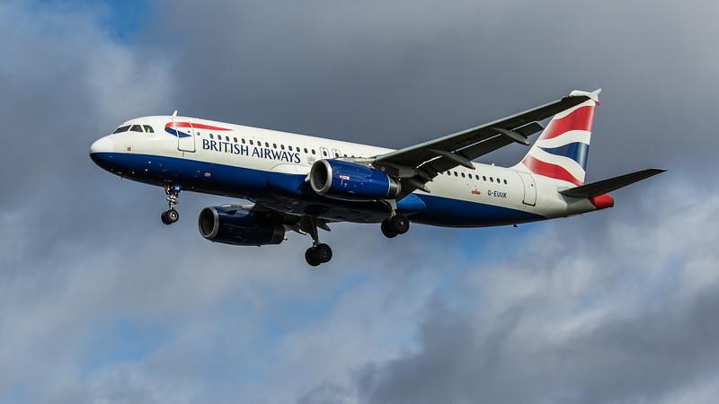 British Airways - Airbus A320-232 (G-EUUK) - Heathrow Airport (February 2020)