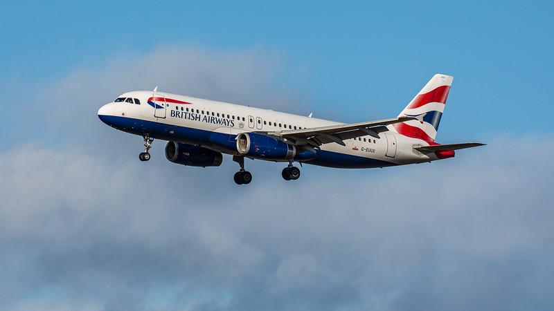 British Airways - Airbus A320-232 (G-EUUX) - Edinburgh Airport (February 2020)