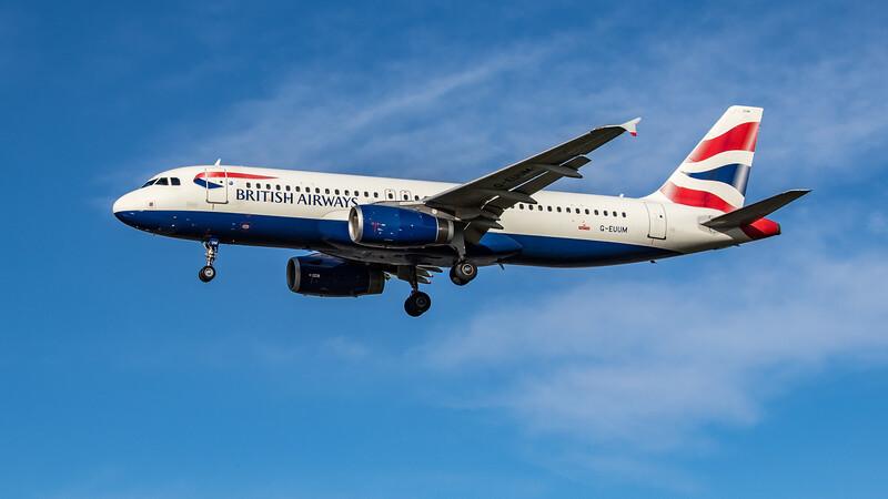 British Airways - Airbus A320-232 (G-EUUM) - Heathrow Airport (October 2020)