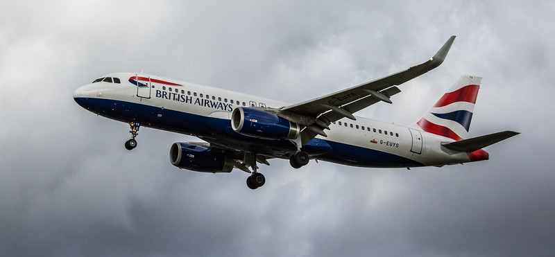 British Airways - Airbus A320-232 (G-EUYS) - Heathrow Airport (March 2019)