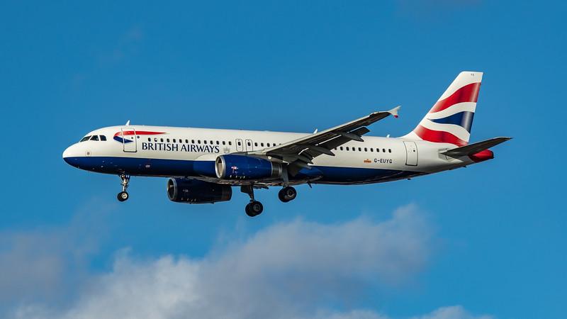 British Airways - Airbus A320-232 (G-EUYG) - Heathrow Airport (March 2020)