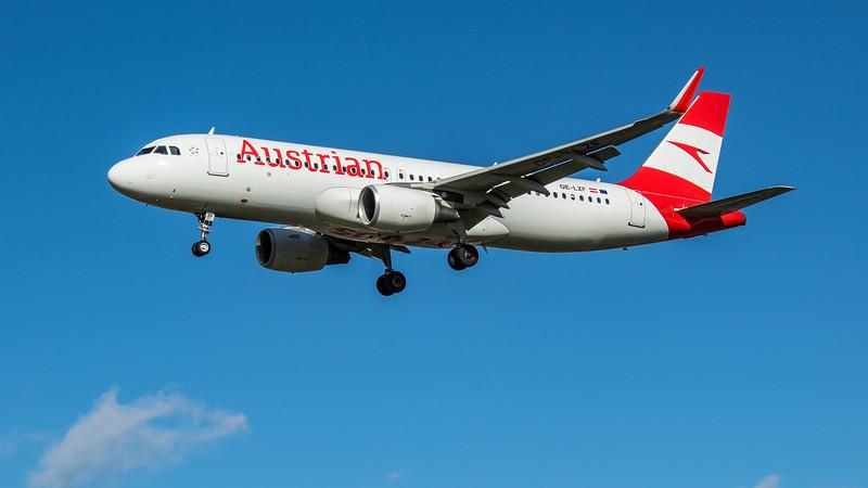Austrian Airways - Airbus A320-214 (OE-LZF) - Heathrow Airport (March 2020)