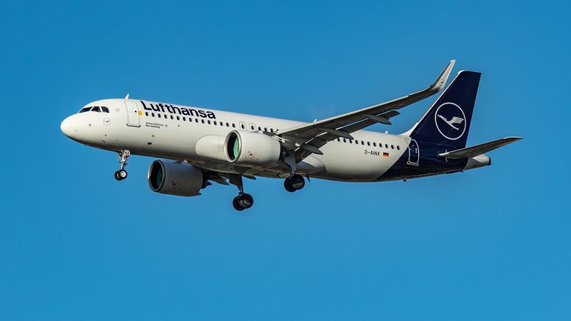 Lufthansa - Airbus A320-271N (D-AINX) - Heathrow Airport (March 2020)