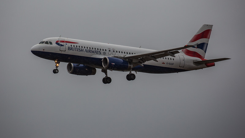British Airways - Airbus A320-232 (G-EUUP) - Edinburgh Airport (February 2020)