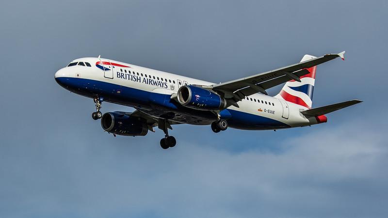 British Airways - Airbus A320-232 (G-EUUE) - Heathrow Airport (February 2020)