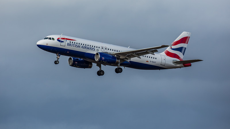 British Airways - Airbus A320-232 (G-EUUT) - Edinburgh Airport (February 2020)