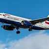 British Airways - Airbus A320-232 (G-EUYL) - Heathrow Airport (February 2020)