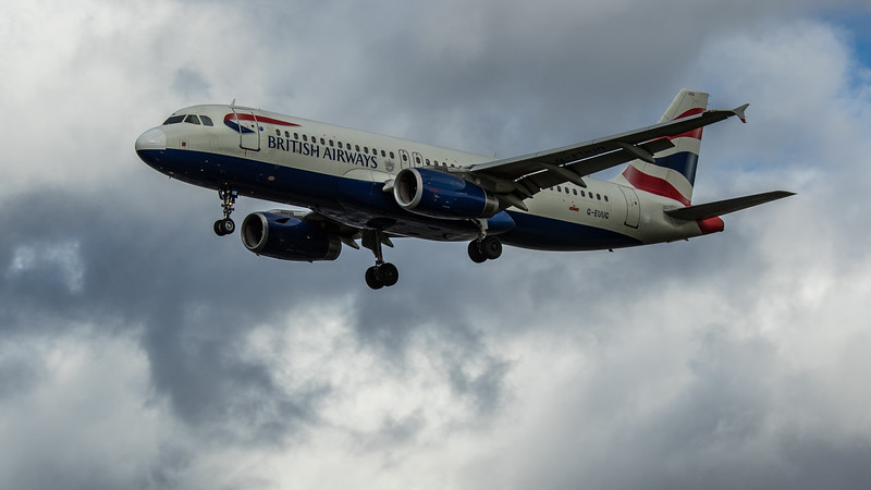 British Airways - Airbus A320-232 (G-EUUG) - Heathrow Airport (March 2020)