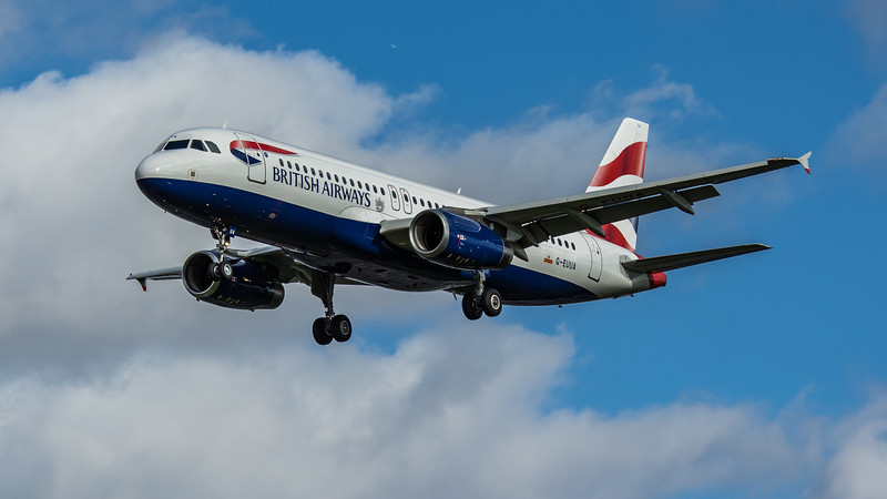 British Airways - Airbus A320-232 (G-EUUA) - Heathrow Airport (March 2020)