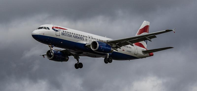 British Airways - Airbus A320-232 (G-EUUY) - Heathrow Airport (March 2019)