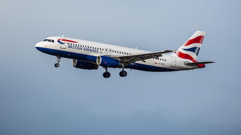 British Airways - Airbus A320-232 (G-GATL) - Edinburgh Airport (February 2020)