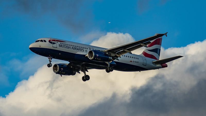 British Airways - Airbus A320-232 (G-EUYF) - Heathrow Airport (March 2020)