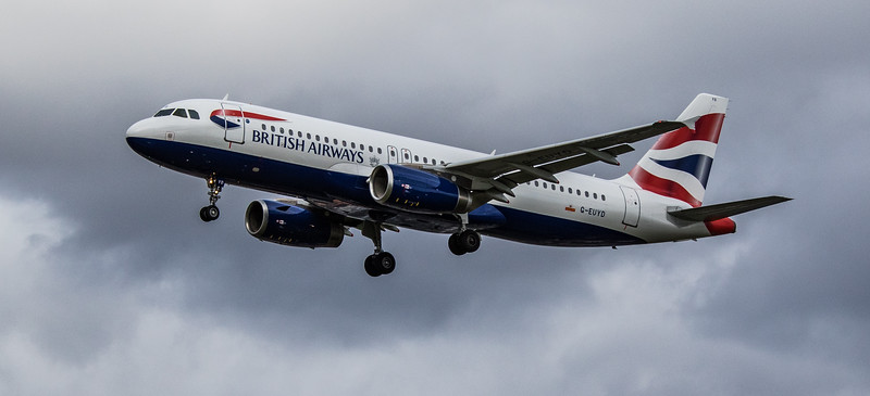 British Airways - Airbus A320-232 (G-EUYD) - Heathrow Airport (March 2019)