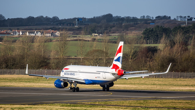 British Airways - Airbus A320-232 (G-EUYO) - Edinburgh Airport (February 2020)