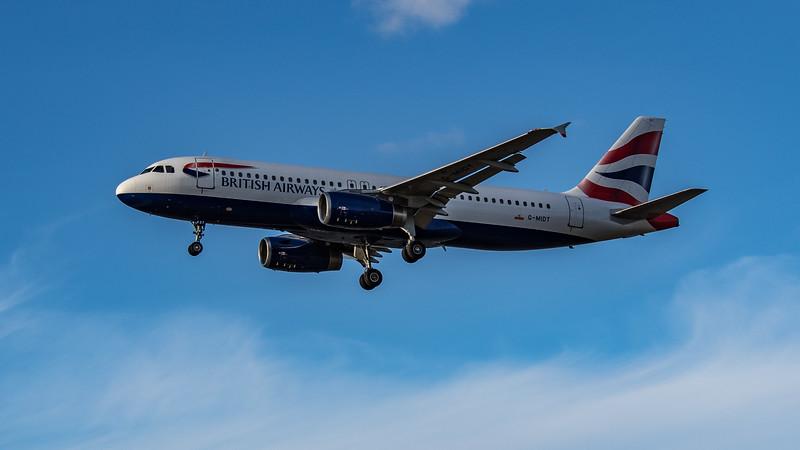 British Airways - Airbus A320-232 (G-MIDT) - Heathrow Airport (August 2020)