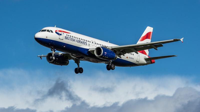 British Airways - Airbus A320-232 (G-EUYH) - Heathrow Airport (February 2020)