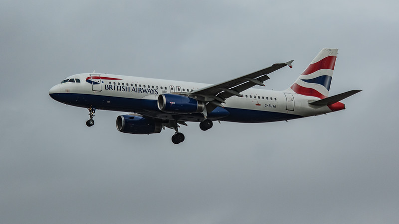 British Airways - Airbus A320-232 (G-EUYA) - Heathrow Airport (March 2020)
