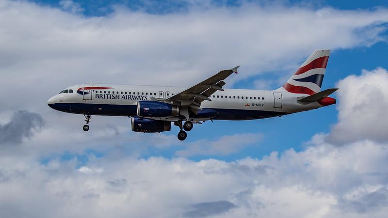 British Airways - Airbus A320-232 (G-MIDY) - Heathrow Airport (August 2020)