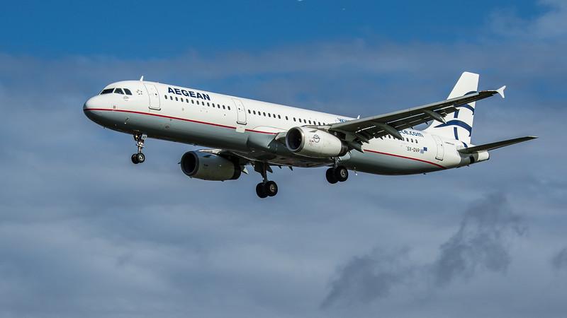 Aegean Airlines - Airbus A321-231 (SX-DVP) - Heathrow Airport (February 2020)