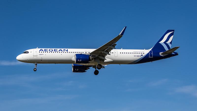 Aegean Airlines - Airbus A321-281NX (SX-NAB) - Heathrow Airport (April 2021)