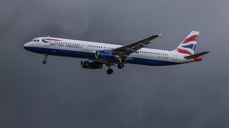 British Airways - Airbus A321-231 (G-EUXF) - Heathrow Airport (March 2019)