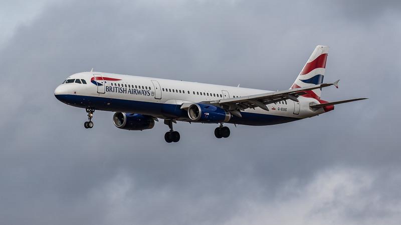 British Airways - Airbus A321-231 (G-EUXC) - Edinburgh Airport (March 2020)