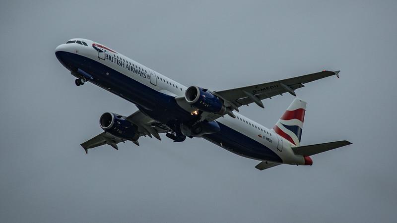 British Airways - Airbus A321-231 (G-MEDU) - Heathrow Airport (March 2020)