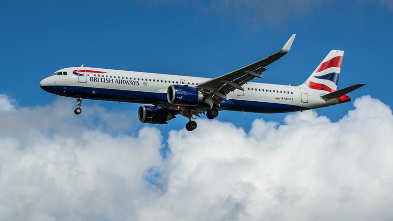 British Airways - Airbus A321-251NX (G-NEOX) - Heathrow Airport (February 2020)
