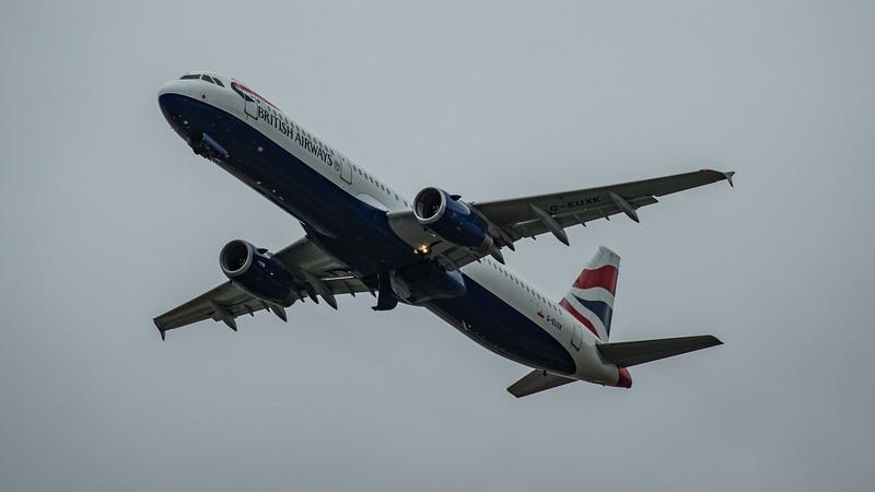 British Airways - Airbus A321-231 (G-EUXK) - Heathrow Airport (March 2020)