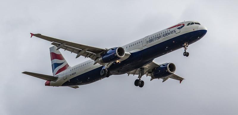 British Airways - Airbus A321-231 (G-MEDM) - Heathrow Airport (March 2019)