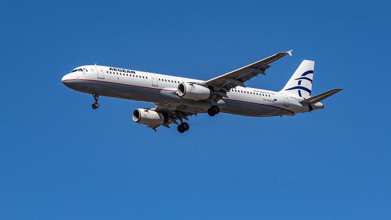 Aegean Airlines - Airbus A321-231 (SX-DGA) - Heathrow Airport (July 2020)