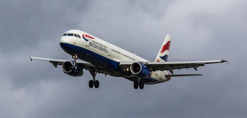 British Airways - Airbus A321-231 (G-EUXG) - Heathrow Airport (March 2019)