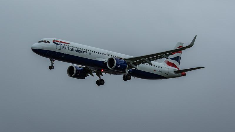 British Airways - Airbus A321-251NX (G-NEOU) - Heathrow Airport (February 2020)