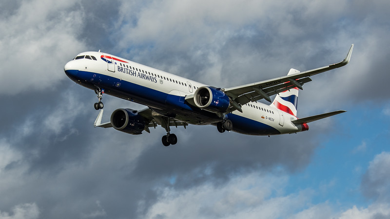 British Airways - Airbus A321-251NX (G-NEOV) - Heathrow Airport (March 2020)