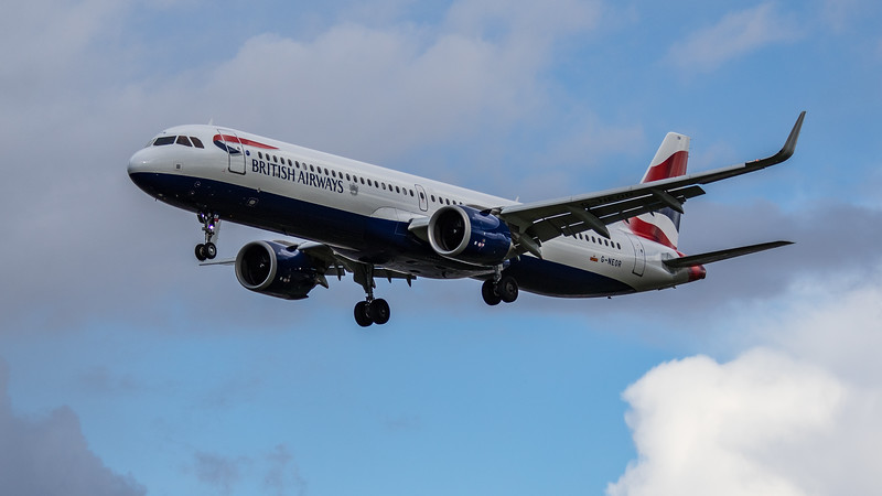 British Airways - Airbus A321-251NX (G-NEOR) - Heathrow Airport (March 2019)