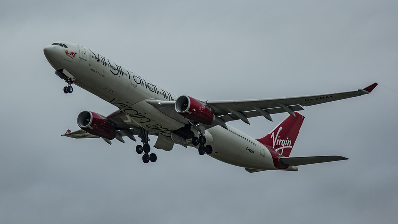 Virgin Atlantic - Airbus A330-343 (G-VRAY) - Heathrow Airport (March 2020)