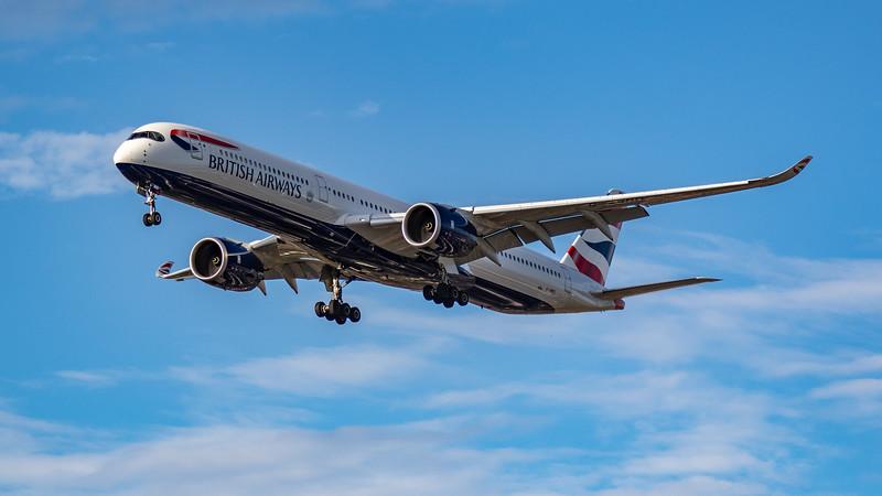 British Airways - Airbus A350-1041 (G-XWBD) - Heathrow Airport (July 2020)