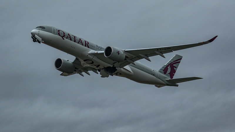 Qatar Airways - Airbus A350-941 (A7-AMK) - Heathrow Airport (March 2020)