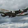 Emirates - Airbus A380-861 (A6-EOO) - Heathrow Airport (March 2020)