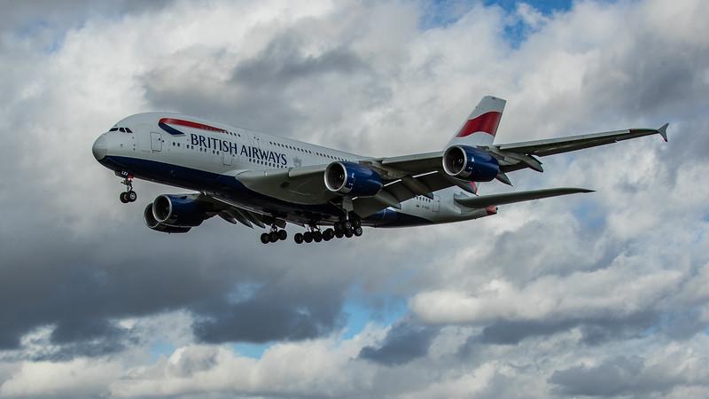 British Airways - Airbus A380-861 (G-XLEA) - Heathrow Airport (March 2020)