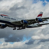 British Airways - Airbus A380-861 (G-XLEA) - Heathrow Airport (March 2020)