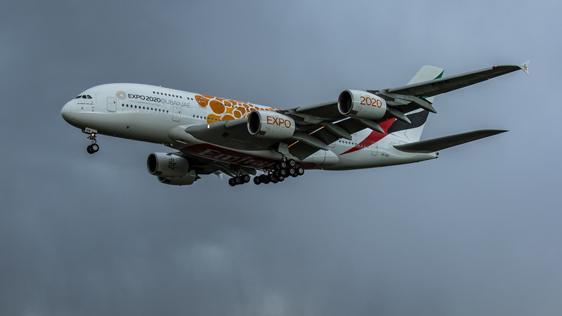 Emirates (Expo 2020 - Opportunity Livery)  - Airbus A380-861 (A6-EOB) - Heathrow Airport (February 2020)