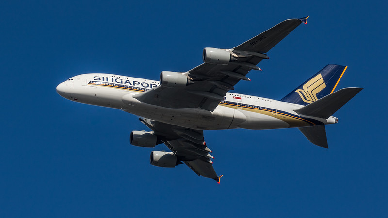 Singapore Airlines - Airbus A380-841 (9V-SKZ) - Heathrow Airport (March 2020)